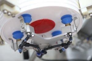 Bucket Lid Denester and Conveyor