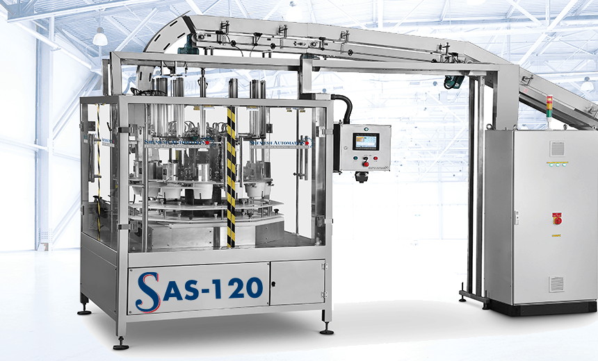 SAS120 Round Wipes Canister Loader Shemesh Automation