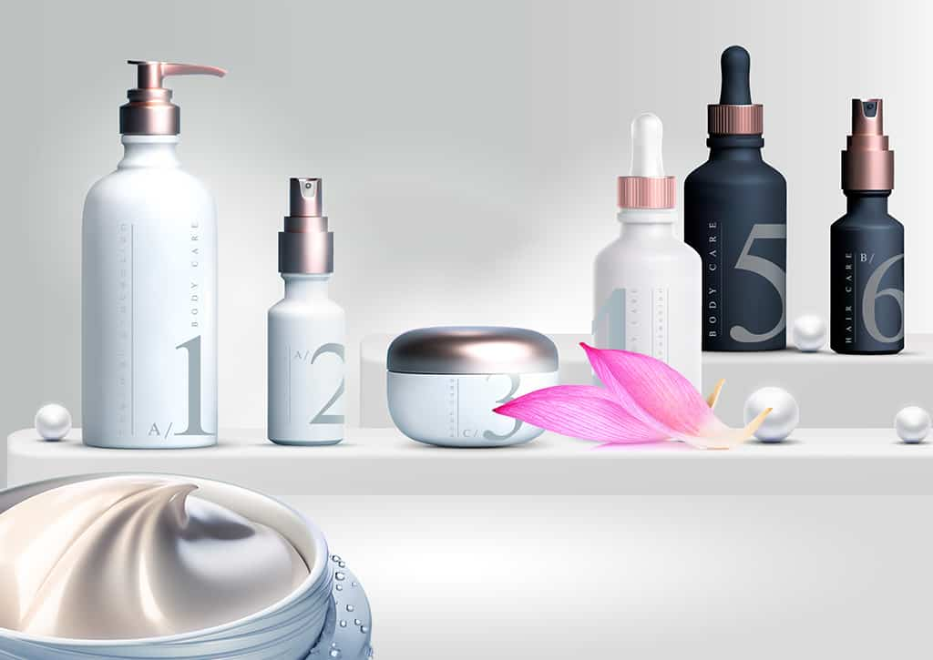 Creams and lotions cosmetics packaging